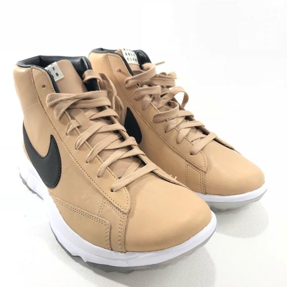 cheaper 1e666 7d635 Nike Womens Golf Shoes Leather Blazer NGC Club Tan